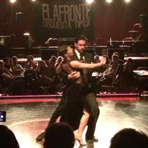 Tango show at a milonga