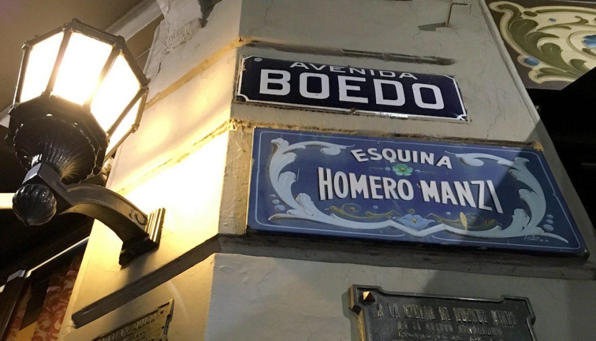 Esquina Homero Manzi Sign Avenida Boedo