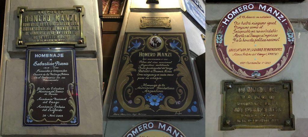 Esquina Homero Manzi plaques Sebastian Piana